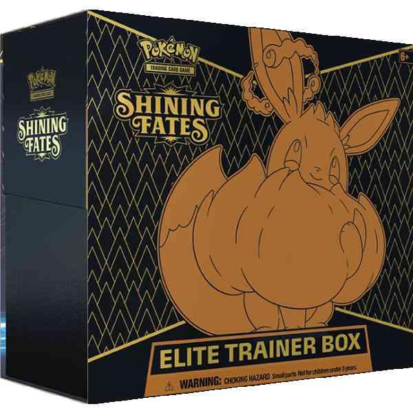 Caja de entrenamiento de élite Pokémon Shining Fates eevee vmax