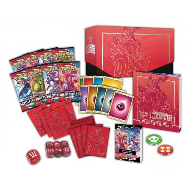 Pokemon TCG Sword Shield - Battle Styles Elite Trainer Box Single Strike Urshifu Contenido