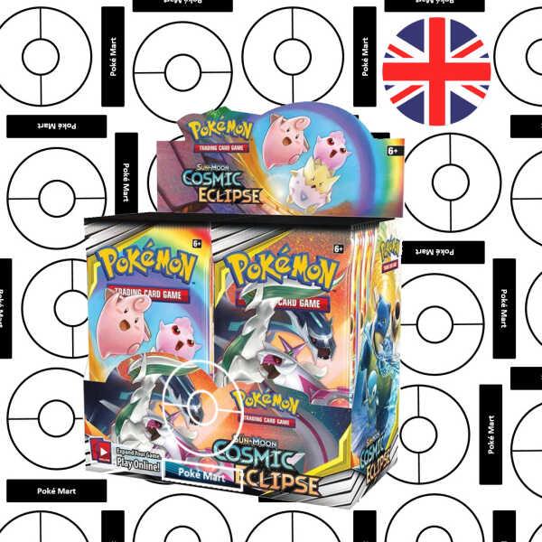Caja de sobres de Pokémon Cosmic Eclipse