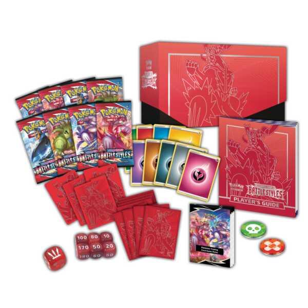 Elite Trainer Box Style das Combat Shifours Poing Finale Pokemart.be contenu