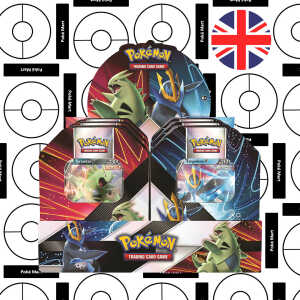 Tyranitar V - Empoleon V summer 2021 V Strikers Tin display pokemart.be