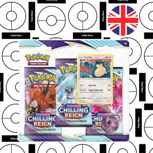 pokemon chilling reign 3 pack blister Snorlax pokemart.be
