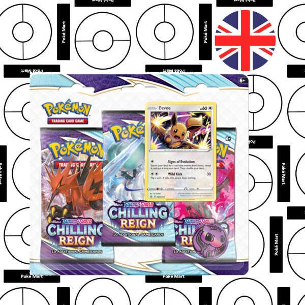 pokemon chilling reign paquete de 3 blister eevee pokemart.be