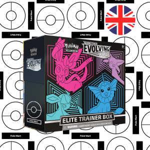 Evolving Skies ETB Elite Trainer box Sylveon Espeon glaceon Vaporeon Pokemart.be