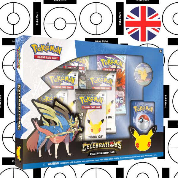 Collection de Pin's Deluxe Célébrations du 25e Anniversaire de Pokémon - Pokemart.be